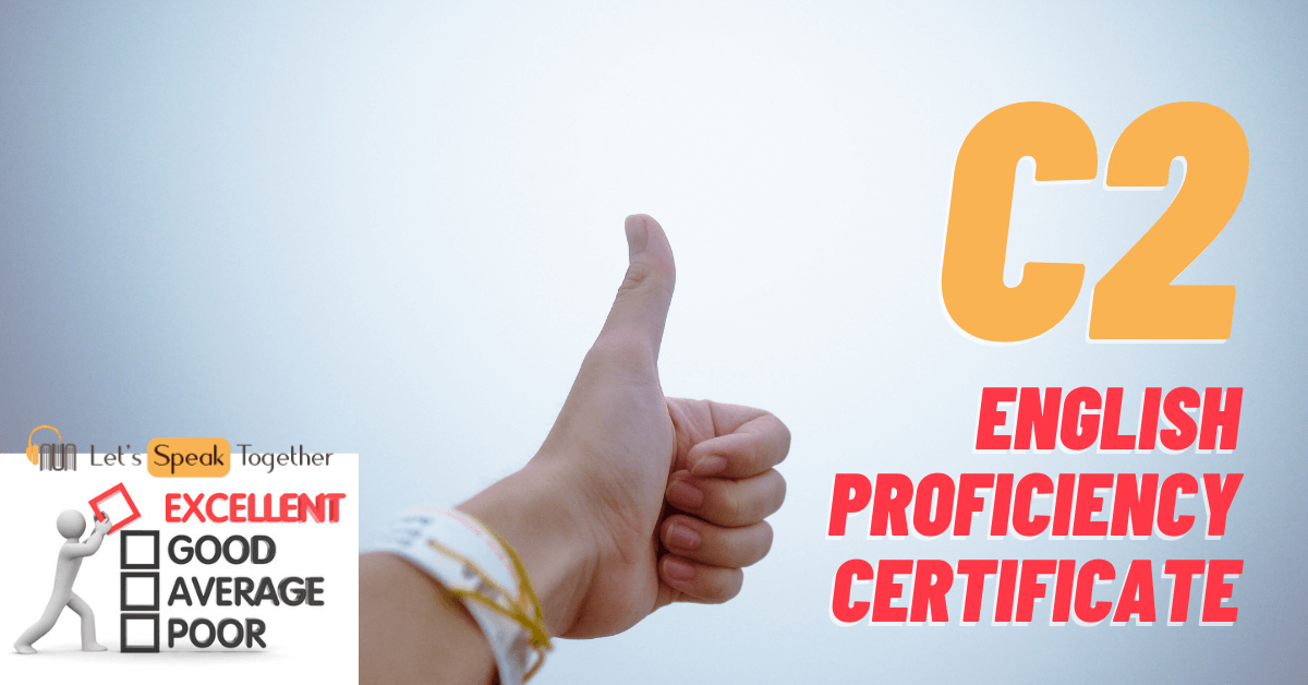 english proficiency certificate